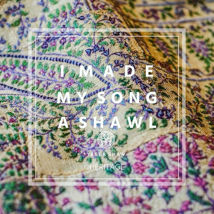 I Made My Song a Shawl